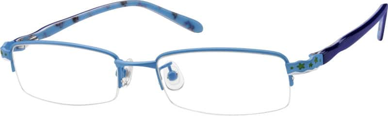 Men Half Rim Mixed Materials Eyeglasses #760016