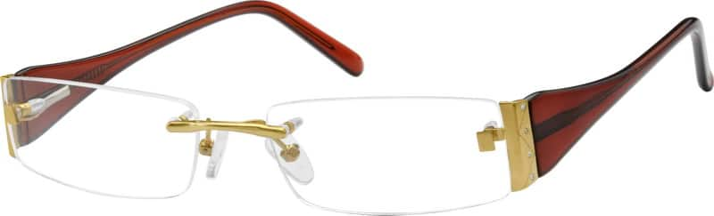 WomenRimlessMixed MaterialsEyeglasses #760411