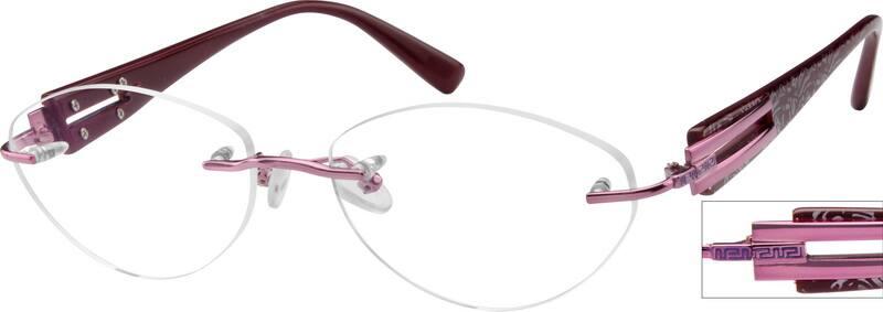 WomenRimlessMixed MaterialsEyeglasses #760611