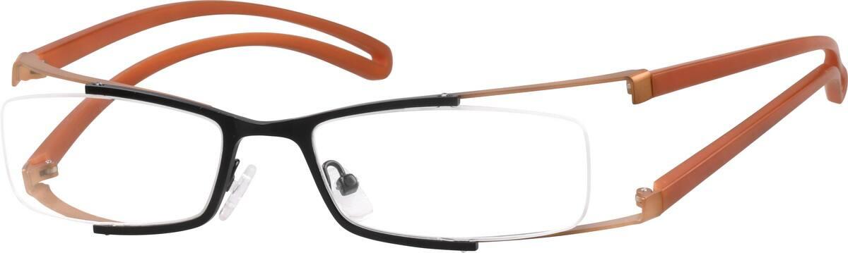 UnisexHalf RimMixed MaterialsEyeglasses #763422
