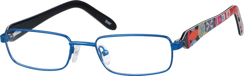 Kids Full Rim Mixed Materials Eyeglasses #764021