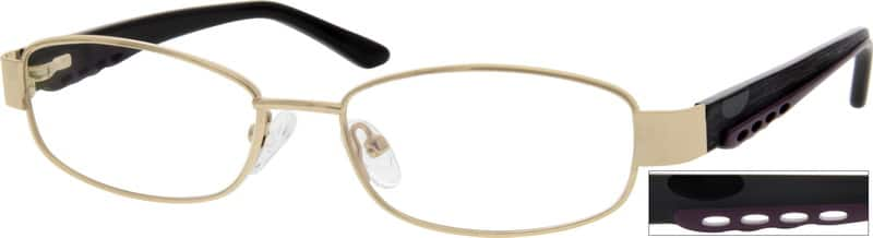 MenFull RimMixed MaterialsEyeglasses #765514