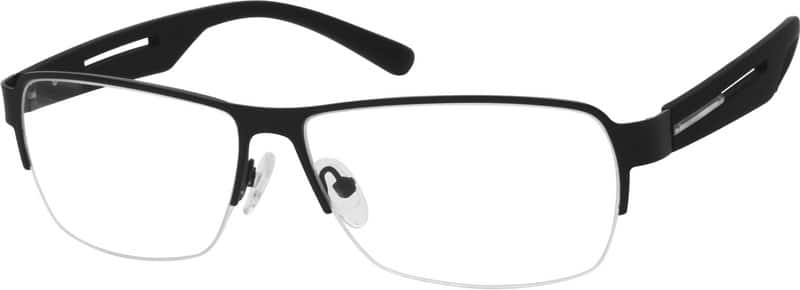 Men Half Rim Mixed Materials Eyeglasses #766421