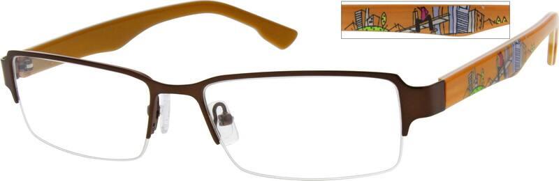 MenHalf RimMixed MaterialsEyeglasses #768115