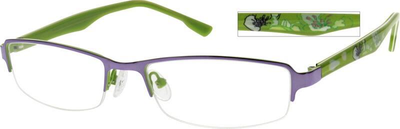 WomenHalf RimMixed MaterialsEyeglasses #768217