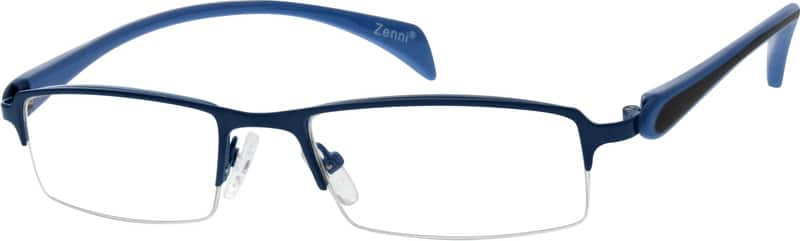 Men Half Rim Mixed Materials Eyeglasses #768716