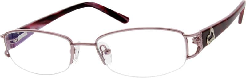 WomenHalf RimMixed MaterialsEyeglasses #769215