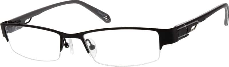 Men Half Rim Mixed Materials Eyeglasses #776315