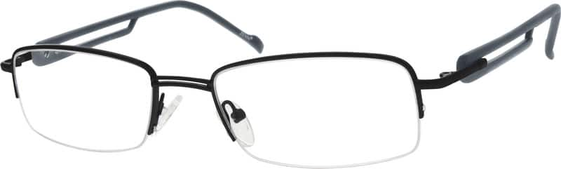 Men Half Rim Mixed Materials Eyeglasses #776612