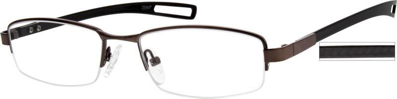 MenHalf RimMixed MaterialsEyeglasses #776912