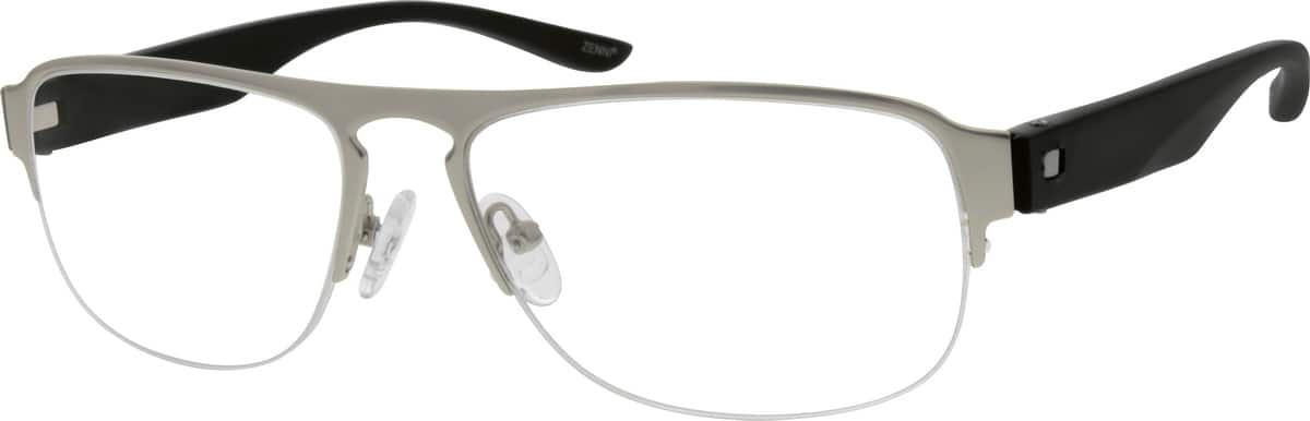 Men Half Rim Mixed Materials Eyeglasses #777211