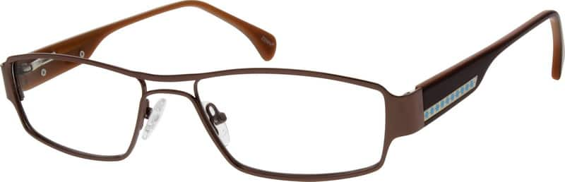 Men Full Rim Mixed Materials Eyeglasses #777315