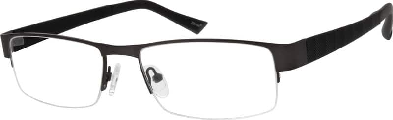 Men Half Rim Mixed Materials Eyeglasses #777515