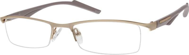 UnisexHalf RimMixed MaterialsEyeglasses #777714