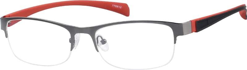 UnisexHalf RimMixed MaterialsEyeglasses #778812