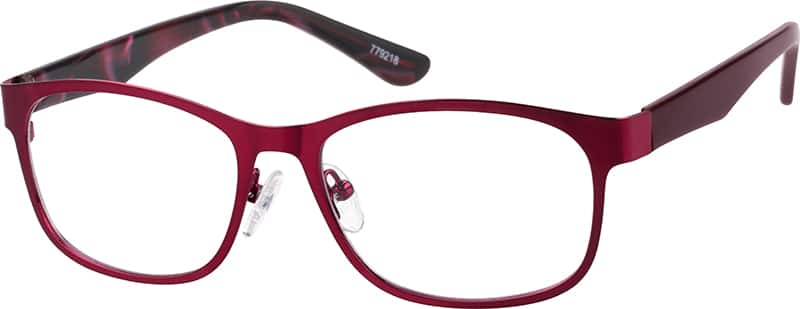Stainless Steel Full-Rim Frame with Acetate Temples