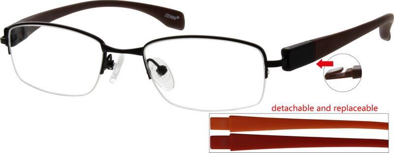 MenHalf RimMixed MaterialsEyeglasses #779421