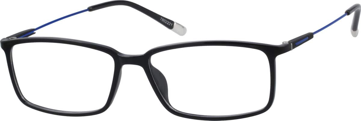 Unisex Full Rim Mixed Materials Eyeglasses #7802221