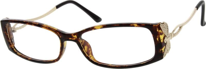 WomenFull RimMixed MaterialsEyeglasses #780217