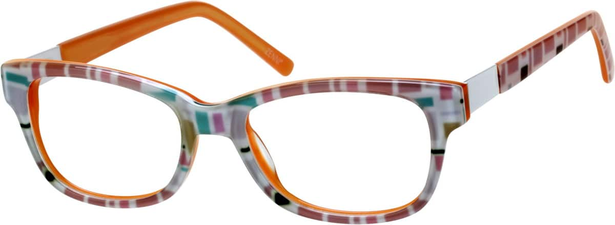 Kids' Retro Square Eyeglasses