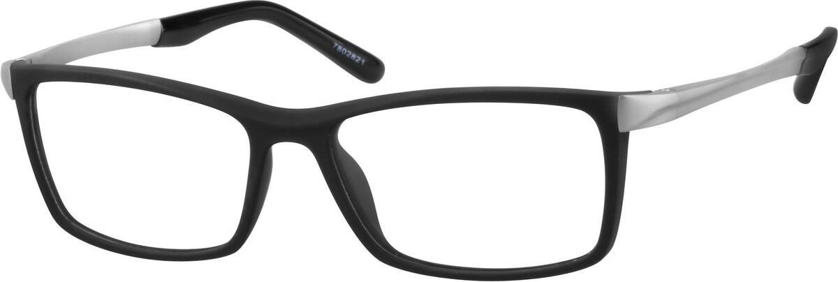 Black Modern Square Eyeglasses #78028 | Zenni Optical
