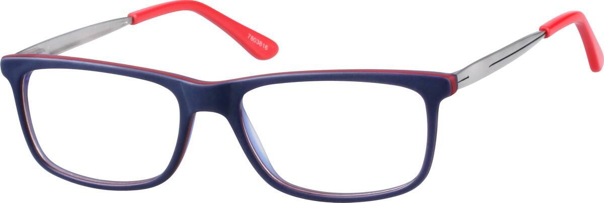 UnisexFull RimMixed MaterialsEyeglasses #7803816