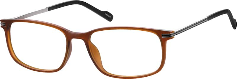 Zenni Brown Rectangle Eyeglasses