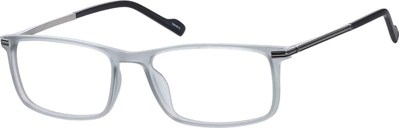 Zenni Gray Rectangle Eyeglasses