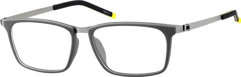 UnisexFull RimMixed MaterialsEyeglasses #7805121