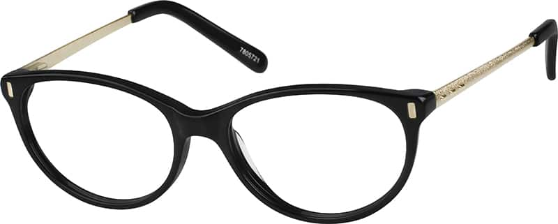 Women Full Rim Mixed Materials Eyeglasses #7805721