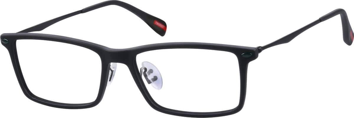 Unisex Full Rim Mixed Materials Eyeglasses #7805925