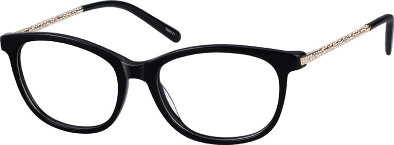 Women Full Rim Mixed Materials Eyeglasses #7806121