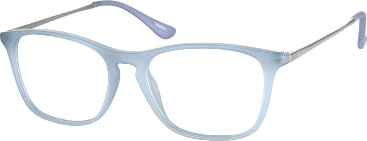 Kids Full Rim Mixed Materials Eyeglasses #7806821