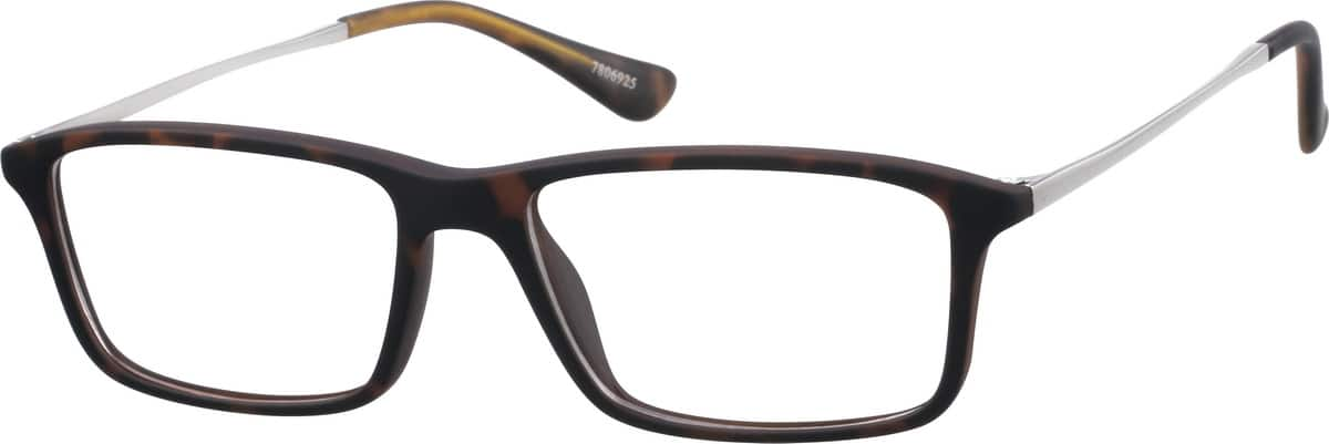 Kids Full Rim Mixed Materials Eyeglasses #7806918