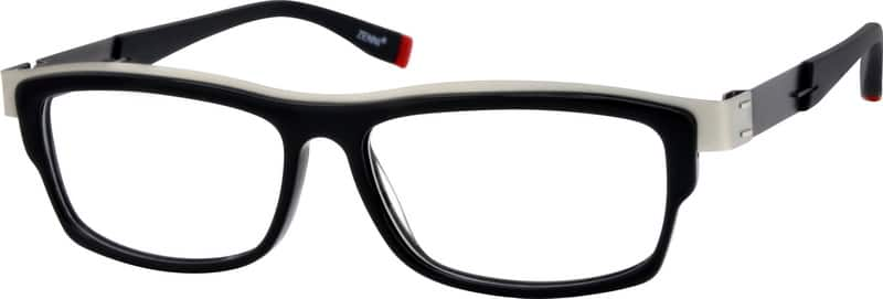 Men Full Rim Mixed Materials Eyeglasses #780721