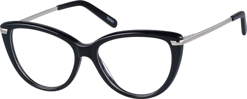 black cateye glasses 78078 zenni optical eyeglasses
