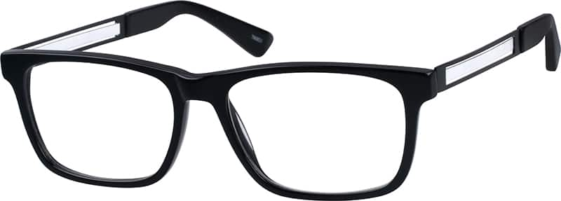 Unisex Full Rim Mixed Materials Eyeglasses #780821