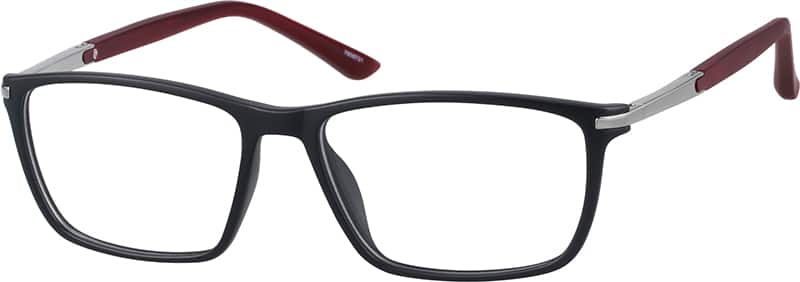 Unisex Full Rim Mixed Materials Eyeglasses #7808721
