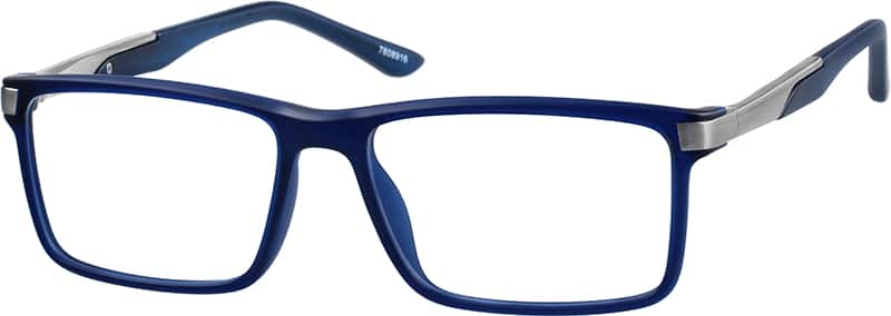 Men Full Rim Mixed Materials Eyeglasses #7808916