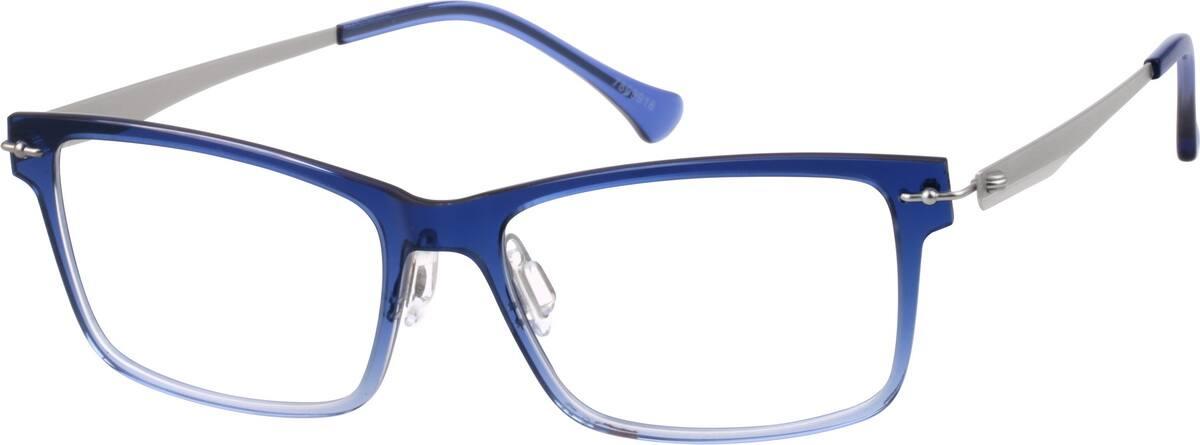 Blue Square Glasses #78099 Zenni Optical Eyeglasses