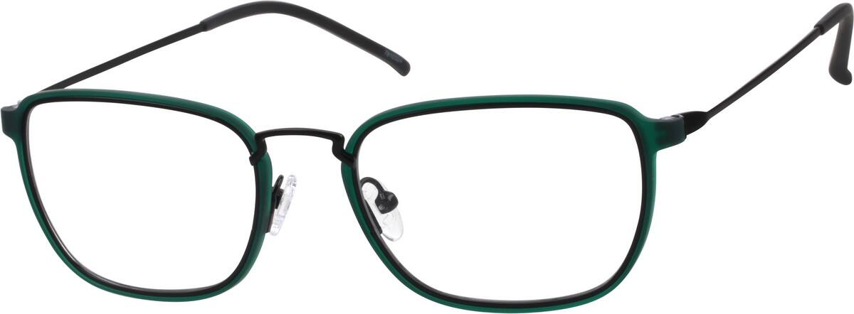 UnisexFull RimMixed MaterialsEyeglasses #7810312