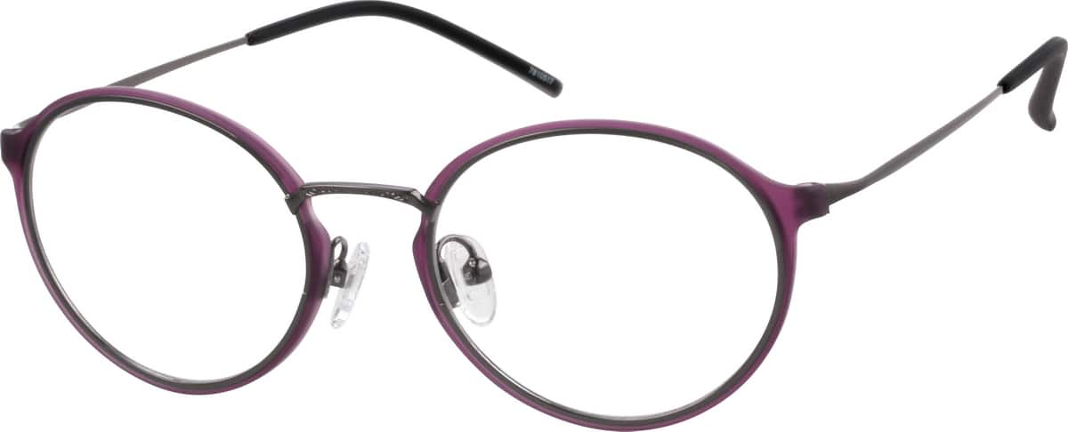 Women Full Rim Mixed Materials Eyeglasses #7810517
