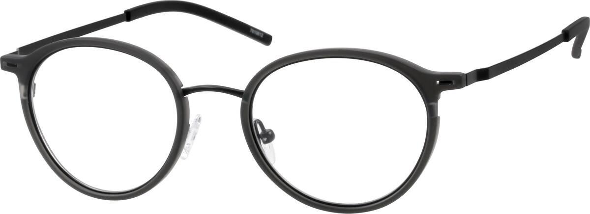 UnisexFull RimMixed MaterialsEyeglasses #7810622
