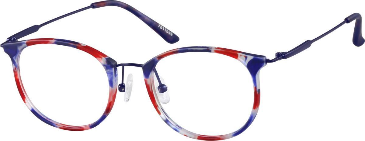 UnisexFull RimMixed MaterialsEyeglasses #7811539