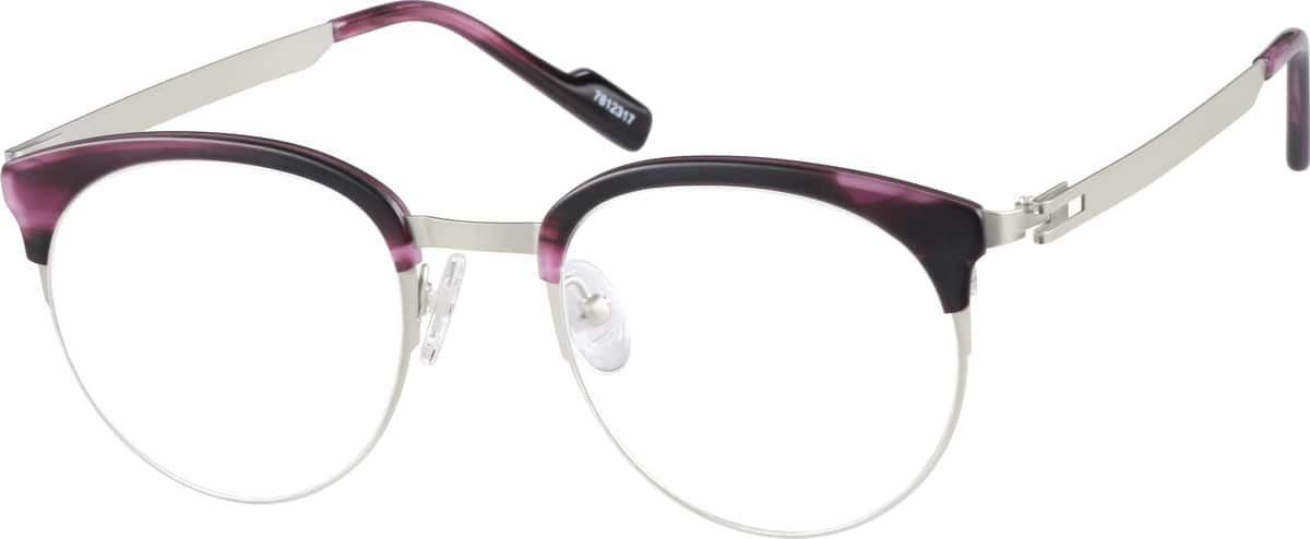 Unisex Full Rim Stainless Steel Eyeglasses #7812317