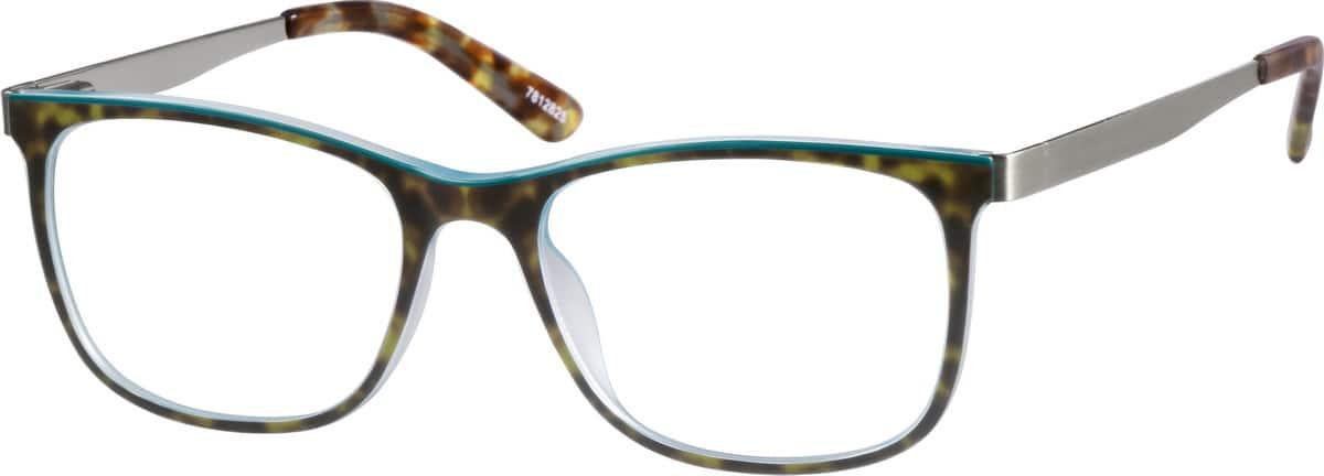 UnisexFull RimMixed MaterialsEyeglasses #7812815