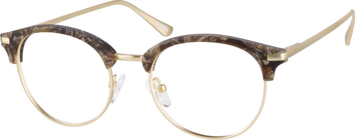 UnisexFull RimMixed MaterialsEyeglasses #7813015