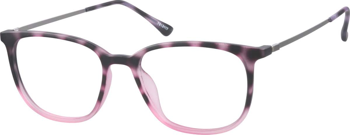Unisex Full Rim Mixed Materials Eyeglasses #7813124