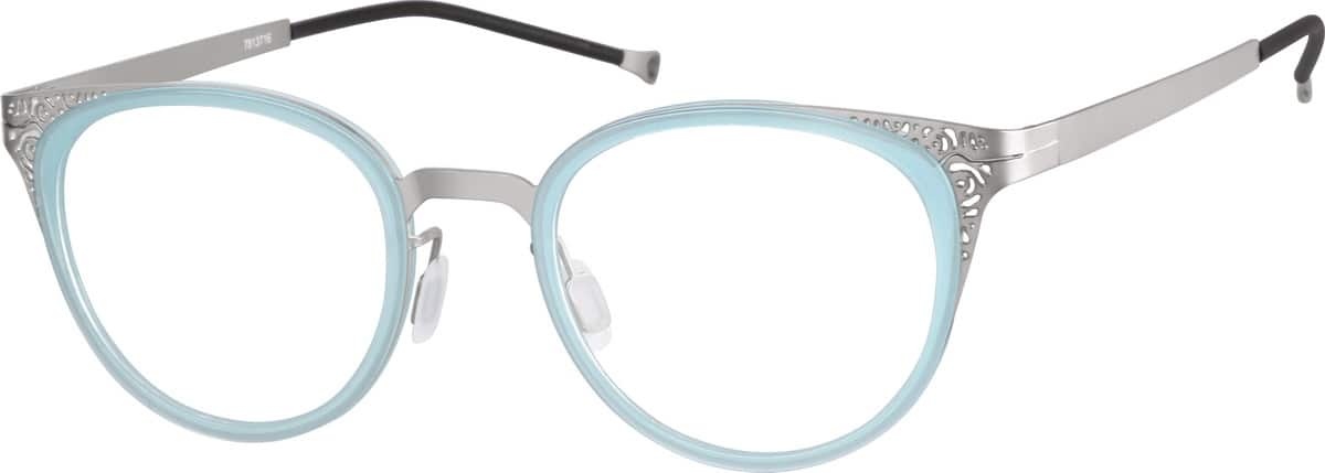 Women Full Rim Mixed Materials Eyeglasses #7813717