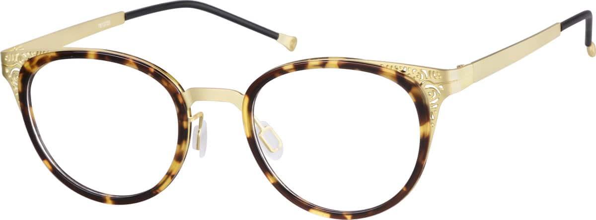 WomenFull RimMixed MaterialsEyeglasses #7813725